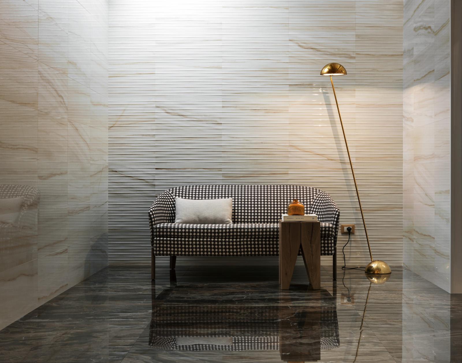 Carrelages effet marbre beige l Carrelages Delannoy