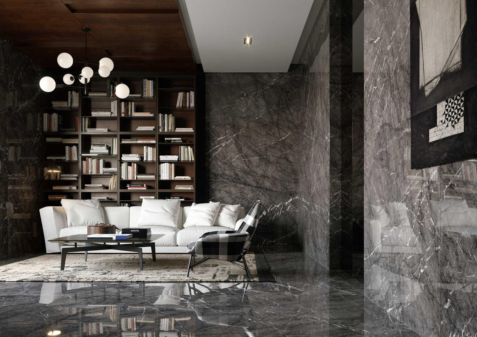 Carrelages effet marbre gris l Carrelages Delannoy