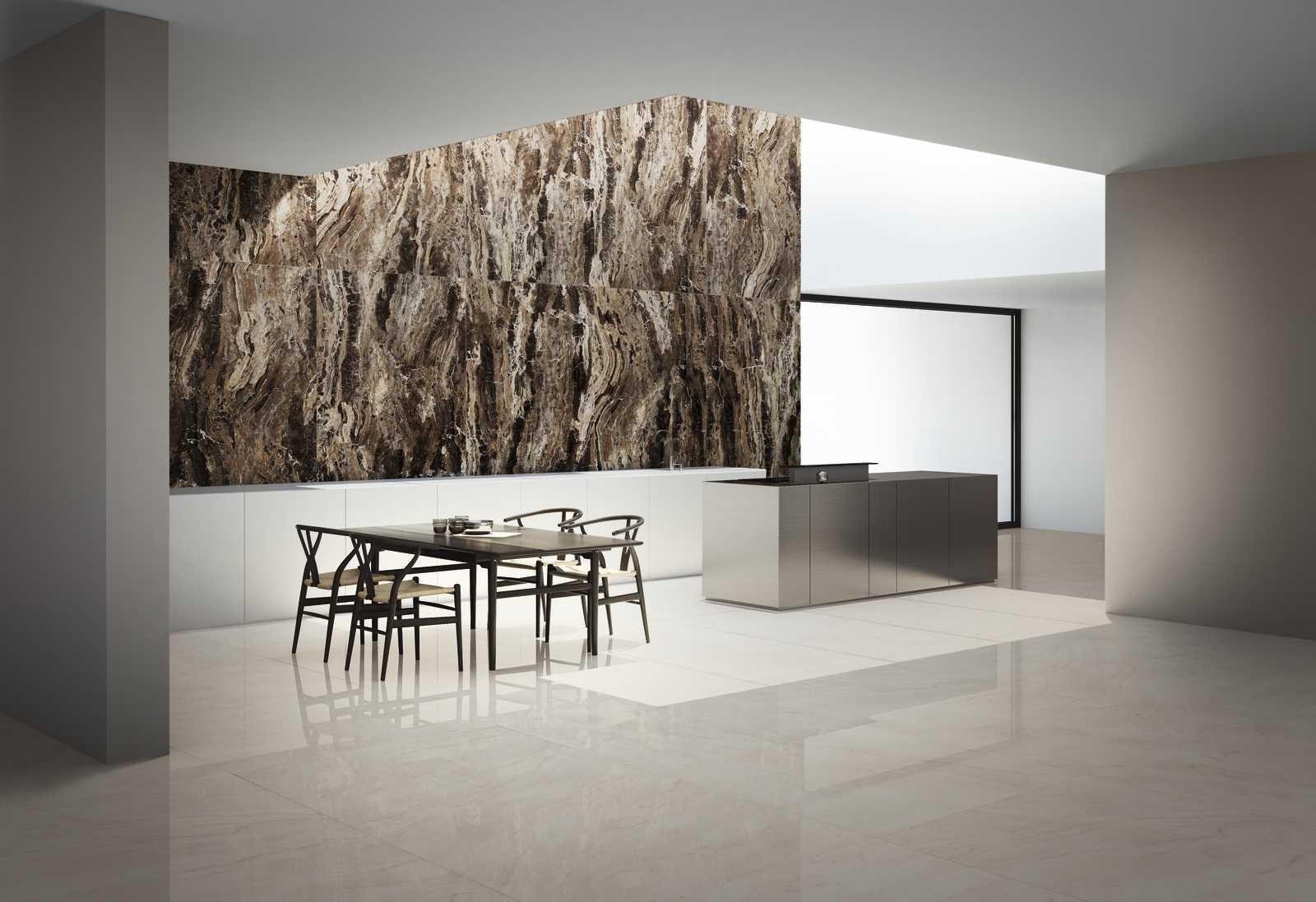 Carrelages effet marbre marron l Carrelages Delannoy
